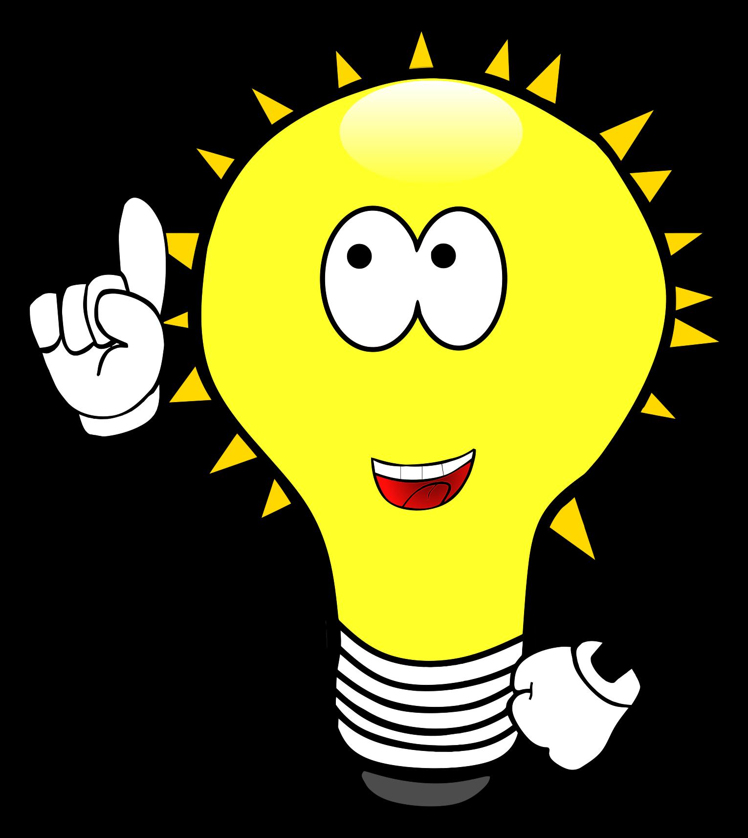 Bright Cartoon Lightbulb Clip Art Image - ClipSafari